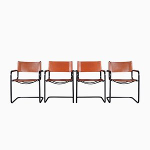 Steel Cantilever S34 Dining Chairs, 1970s, Set of 4