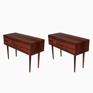 Mid-Century Low Rosewood Side Tables by Arne Vodder for N.C. Mobelfabrik Odense, Set of 2
