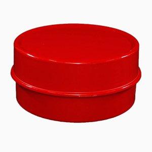 Roter Vintage Ilumesa Couchtisch von Verner Panton für Verpan
