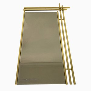 Italian Brass Framed Mirror, 1970s