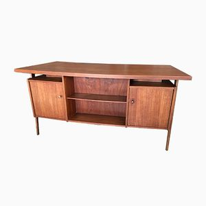 Danish Double Curve Teak Desk, 1960s