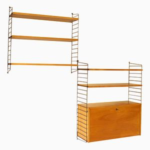 Mid-Century Wall Units from String, Set of 2