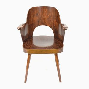 Vintage Plywood Chair by Oswald Heardtl for TON, 1960s