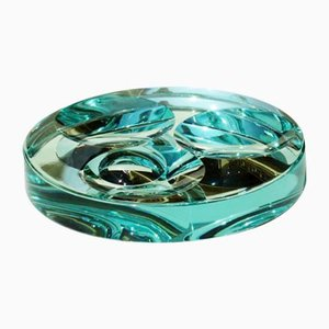 Bol Vintage en Cristal à Effet Miroir de Fontana Arte, 1960s