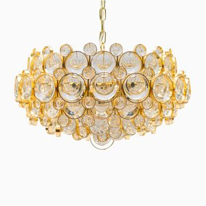 Large Gilded Chandelier from Palwa, 1960s
