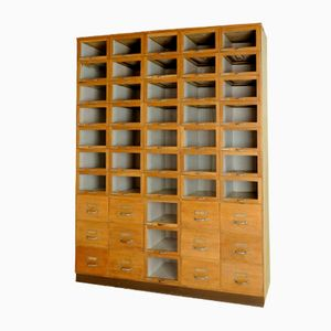 Vintage Shop Display Cabinet with Drawers