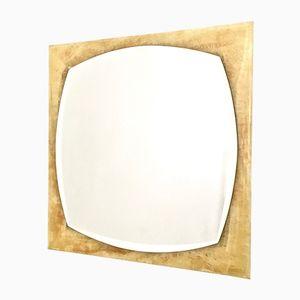 Mid-Century Italian Square Beveled Wall Mirror, 1960s
