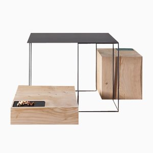 Brothers Coffee Tables by UNDUO, Set of 3