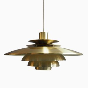 Verona Brass Hanging Lamp from Jeka Metaltryk, 1960s