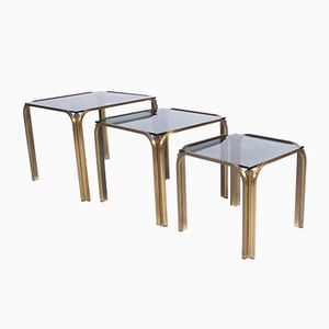 Vintage Gilt Metal Nesting Tables