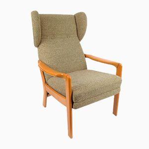 Dänischer Sessel mit Ausziehbarer Fußablage, 1960er
