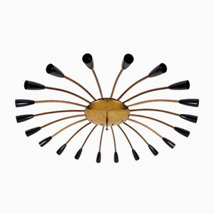 Vintage Spider Lampe aus Messing & Bakelit