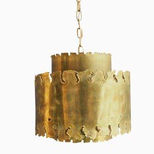 Vintage Brutalist Model 6399 Brass Pendant by Svend Aage Holm Sørensen