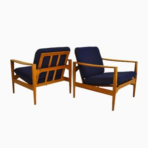 Mid-Century Danish Easy Chairs by Illum Wikkelsø, 1950s, Set of 2