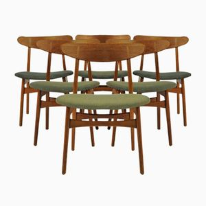 CH30 Oak Dining Chairs by Hans J Wegner for Carl Hansen & Søn, 1950s, Set of 6