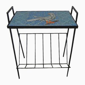 Vintage Side Table with Mosaic