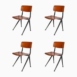 Industrielle Mid-Century Esszimmer Stühle von Marko, 4er Set