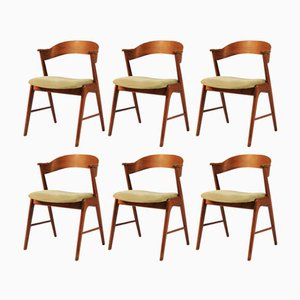 Chaises de Salon Modèle 32 en Teck par Kai Kristiansen pour Shou Andersen, 1960s, Set de 6