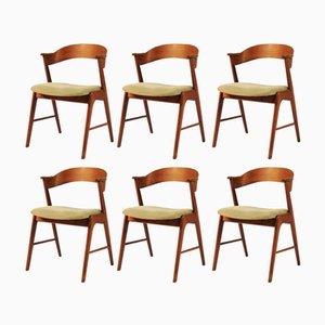 Modell 32 Teak Esszimmerstühle von Kai Kristiansen für Shou Andersen, 1960er, 6er Set