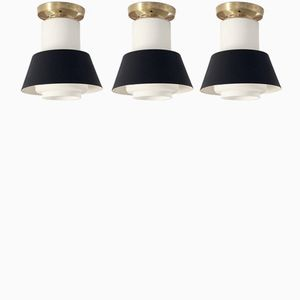 Ceiling Lamps by Jonas Hidle for Høvik Verk, 1950s, Set of 3
