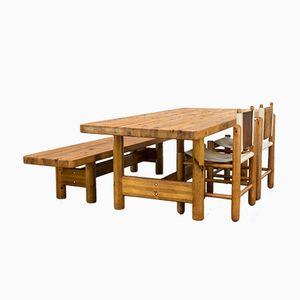 Pine Dining Room Set by Knud Friis & Elmar Moltke Nielsen, 1950s