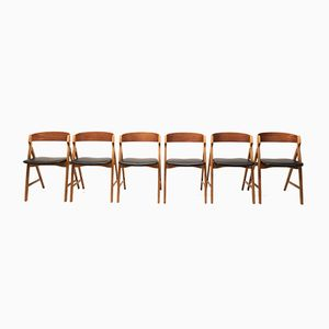 Model 71 Dining Chairs by Henning Kjærnulf for Boltinge Stole & Møbelfabrik, 1960s, Set of 6