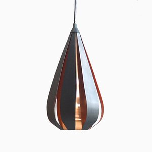 Vintage Copper Pendant by Werner Schou for Coronell Electric