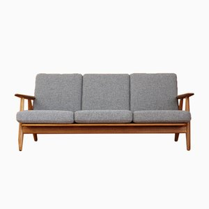 GE240/3 Oak Cigar Sofa by Hans J. Wegner for Getama, 1955
