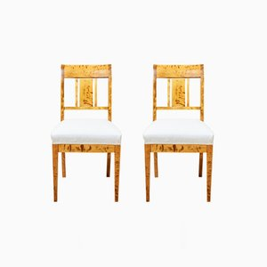 Chaises Antiques en Bouleau, Set de 4