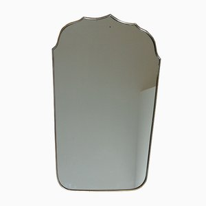 Mid-Century Mirror with a Brass Frame, 1950s