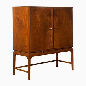 Burl Wood Cabinet from Boet, 1950s