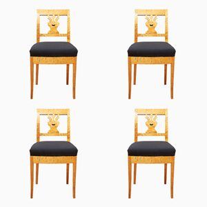Chaises de Salon Antiques, Set de 4