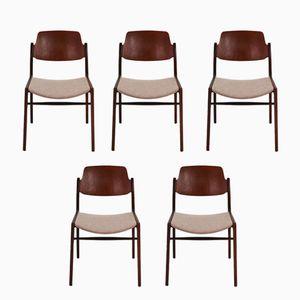 Vintage 476A Teak Stühle von Hartmut Lohmeyer für Wilkhahn, 5er Set