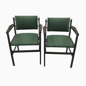 Grüne Stühle, 1960er, 2er Set