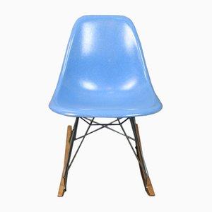 Blauer Schaukelstuhl von Charles & Ray Eames für Herman Miller, 1960er