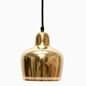 Vintage A330S Golden Bell Ceiling Lamp by Alvar Aalto for Artek