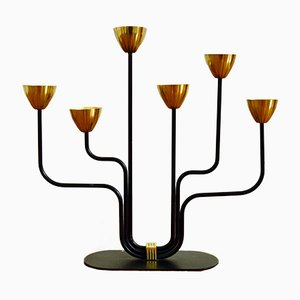 Candelabra by Gunnar Ander for Ystad Metall, 1950s
