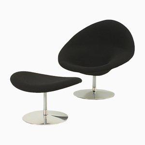 Globe Stuhl und Ottoman von Pierre Paulin für Artifort, 1970er