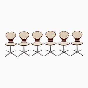 Chaises Pivotantes Vintage en Palissandre, Set de 6