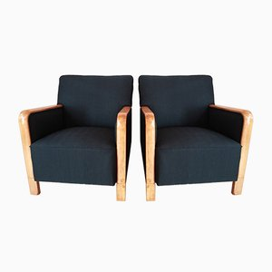 Art Deco Lounge Chairs, Set of 2