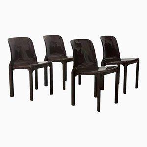 Selene Stühle von Vico Magistretti für Artemide, 1960er, 4er Set