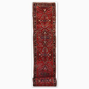 Antique Handmade Persian Lilihan Runner, 1910s