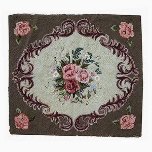 Antique American Hooked Rug, 1920s