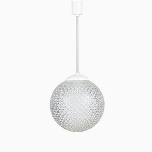 Vintage Cut Glass Spherical Pendant