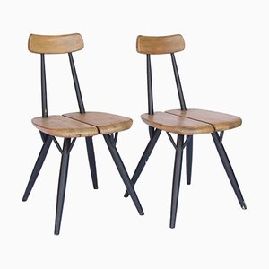 Pirkka Chairs by Ilmari Tapiovaara for Laukaan Puu, 1955, Set of 2