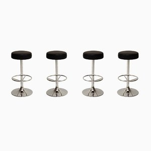 Vintage Chromed Bar Stools from Johansson Design, Set of 4