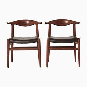 The Chair Modèle JH501 Mid-Century en Corne de Vache par Hans Wegner pour Johannes Hansen
