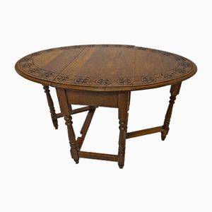 Antique Solid Oak Gate Leg Table