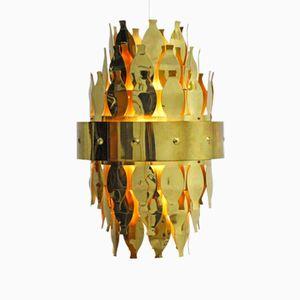 Brass Ceiling Light from Aneta, 1970s