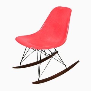 Vintage Red Rocking Chair by Charles and Ray Eames for Herman Miller
